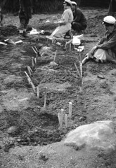 Archaeologists at a boat grave in Tuna, Uppland, Sweden