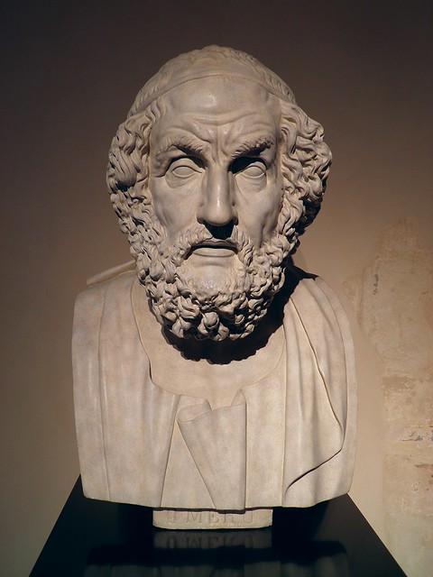 Bust of the poet Homer, replica from the Archaelogical museum of Naples, Neues Museum, Berlin