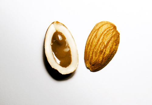 chocolate filled almond