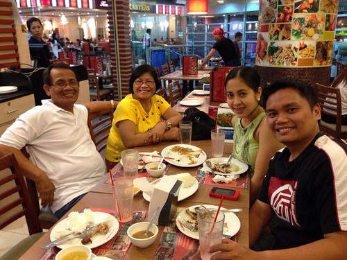 ... finally, joining the hubbys family for dinner at Savory, SM Manila