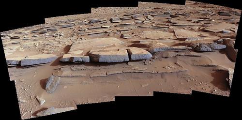 Curiosity sol 574 MastCam left mosaic - Kimberley area