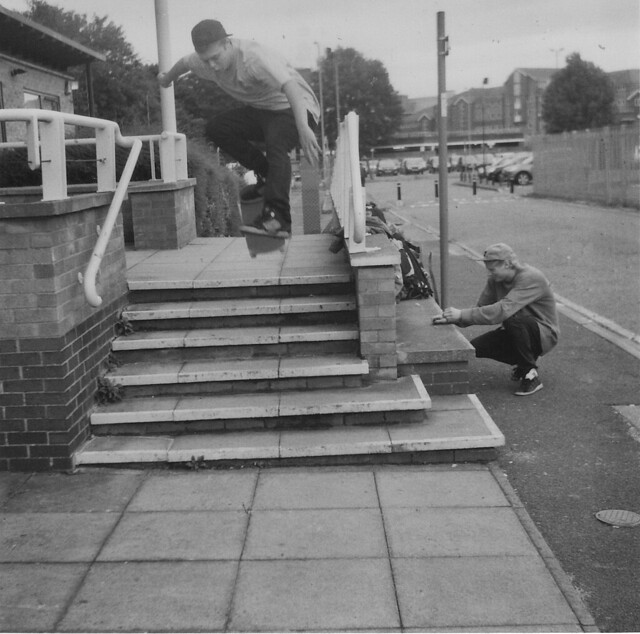 Chris Healey - Ollie North at Riverside in High Wycombe - Lubitel 2 - 120 Ilford 3200