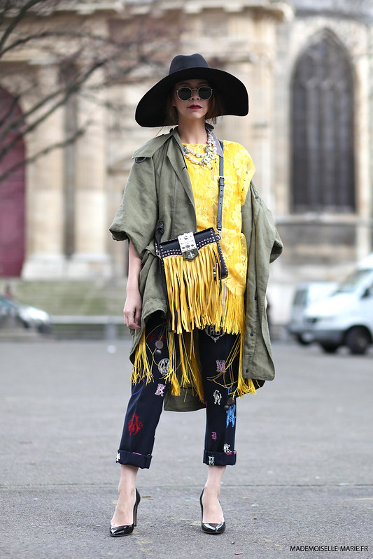 Ploy Chava at Paris fashion week