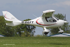 G-DEFT - 2007 build Flight Design CTSW, arriving at Sywell during AeroExpo 2013
