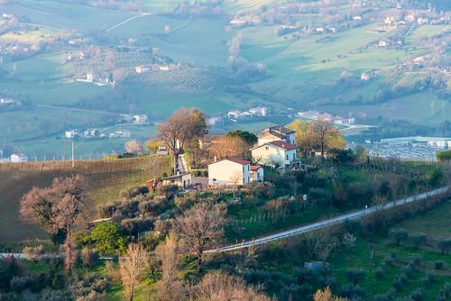 camera trees sky italy clouds italia hills valley marche ancona lemarche topography cupramontana nikond800 nikon28300mmf3556 featureslandmarks poggiocupro