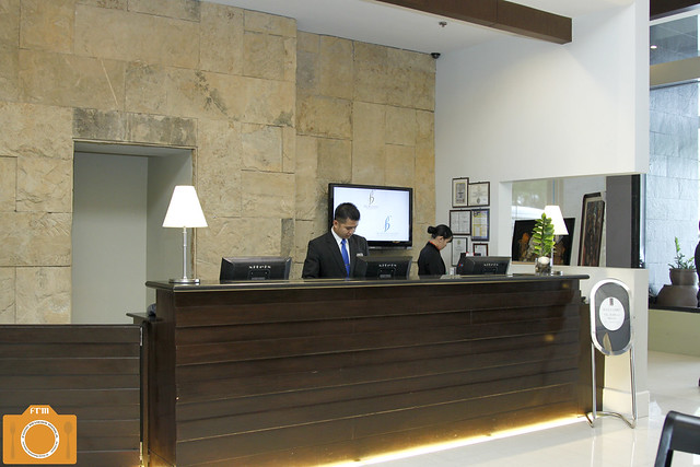 B Hotel Reception Area
