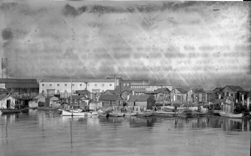 Shacks on tide flats, 1915