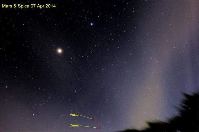 Mars & Spica 7 Aprl 14
