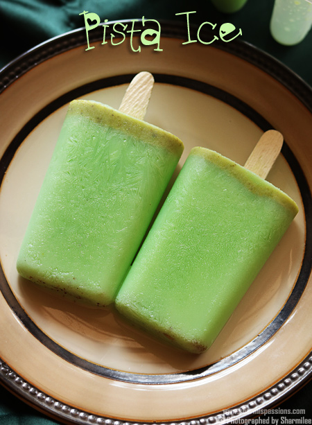 Pista Ice Popsicle Recipe