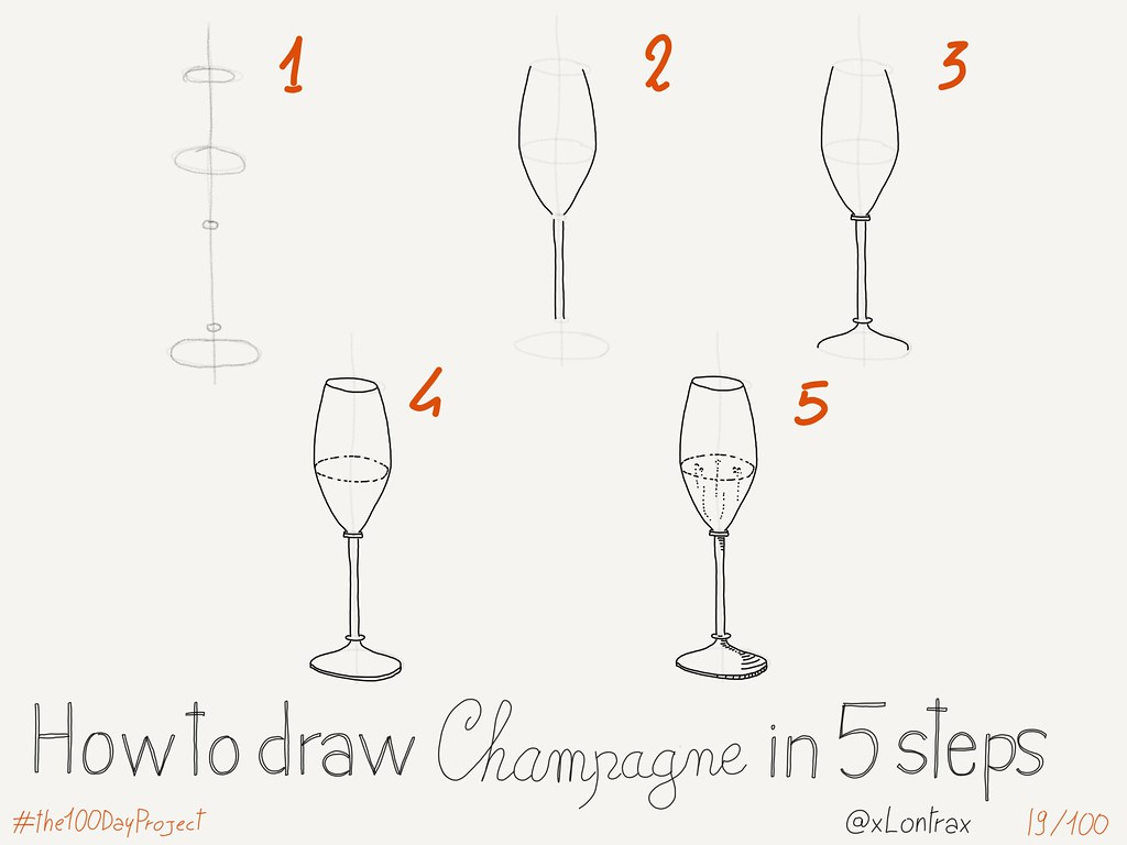 How To Draw A Champagne Glass Mauro Toselli Flickr