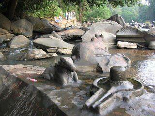 Sahasralinga in uthara karnataka hundreds of the stones with Shiva Linga