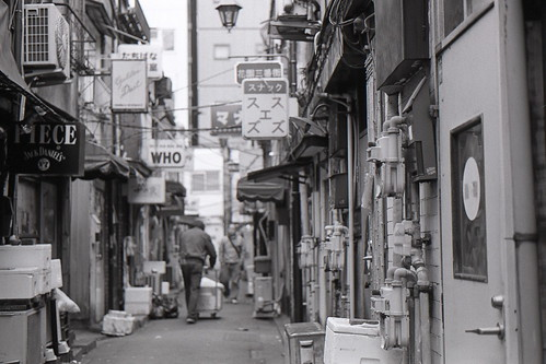 The backstreets of Shinjuku.