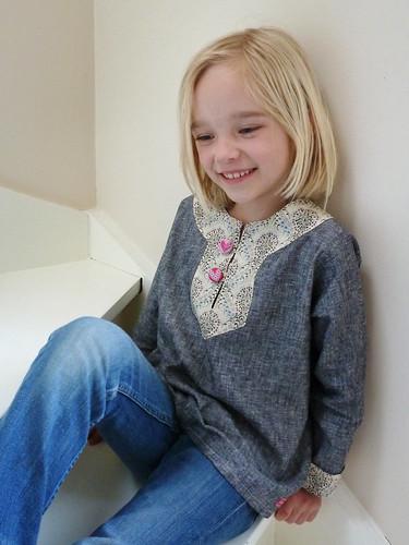 Ronja wearing her Charlie tunic