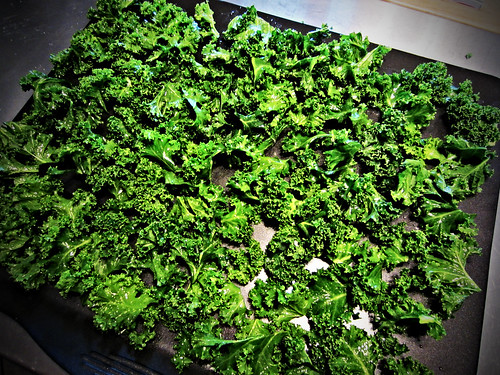 Crispy Kale Chips: Chopped Kale