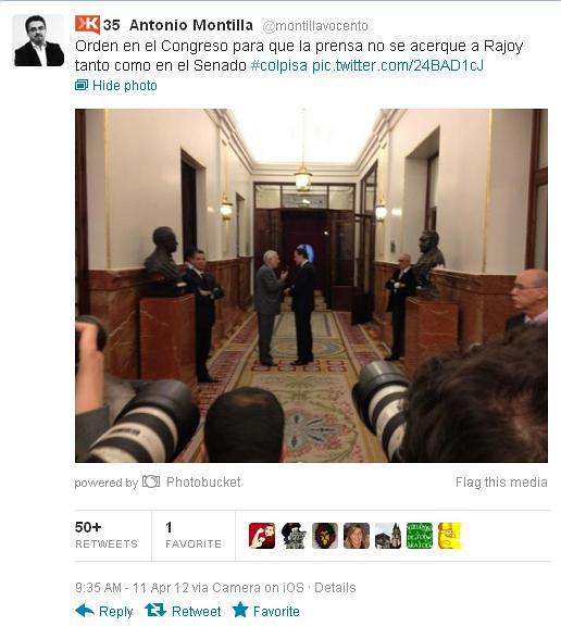Prensa en el Congreso y Rajoy