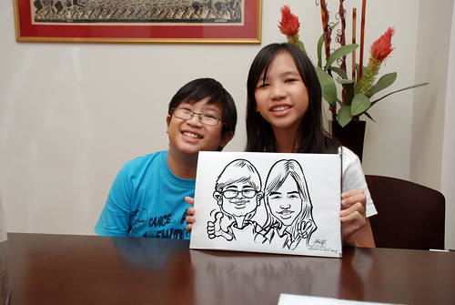 Caricature live sketching for Marks & Clerk Singapore LLP Christmas Party - 10