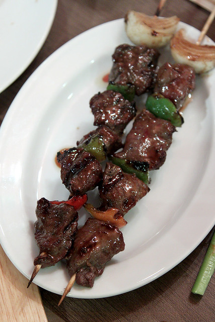 Napa Pork Skewers