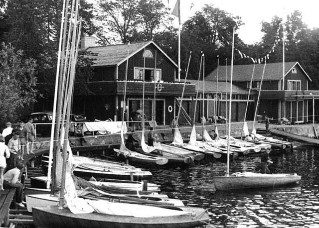 Finn Dinghy regatta post war