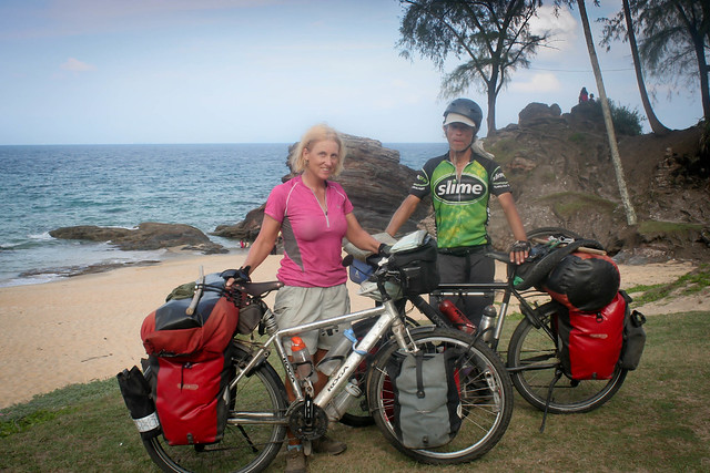 Eric and Amaya bicycle touring in Malaysia