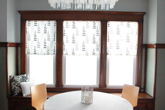 Easy window shades no sew window shades simple window for Dining room no windows