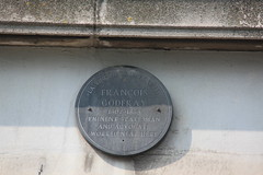 Photo of François Godfray grey plaque