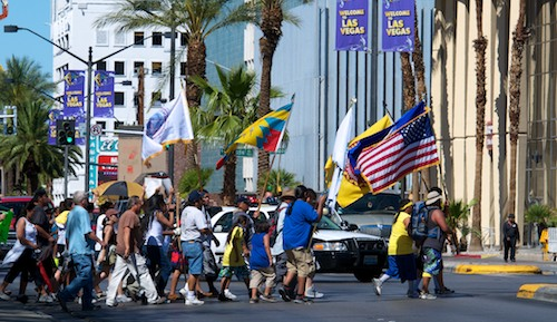 Moapa Band of Pauites Earth day march