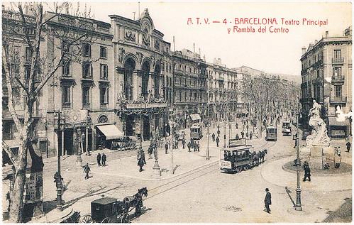 La Rambla de Barcelona, Teatro Principal y Rambla del Centro by Octavi Centelles