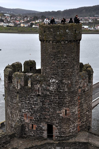 On top of a tower at Conwy Castle