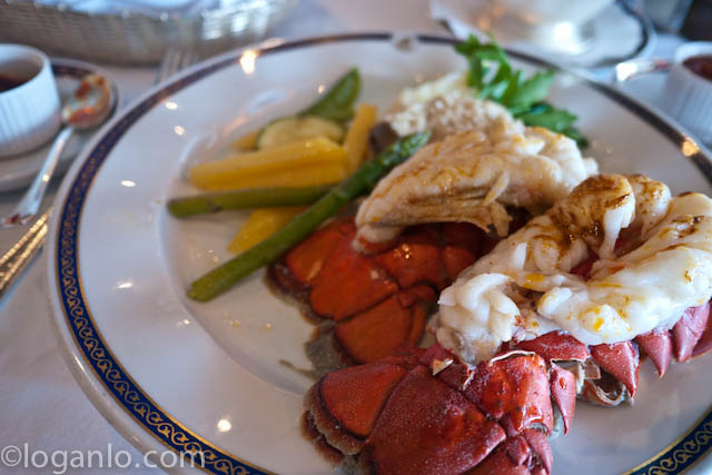 Lobster tail dinner
