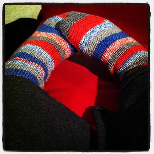 Pjs & hand knitted socks: so comfy! I'm in love with a handknitted merino sock!