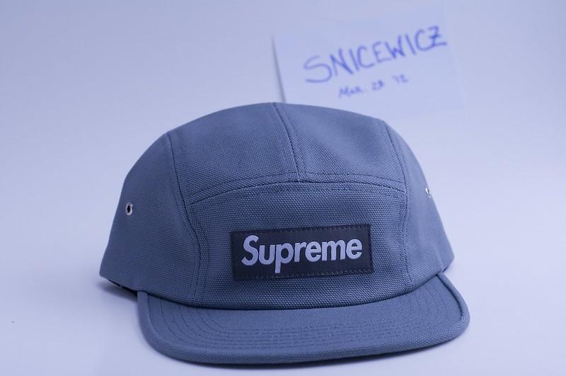 dc69aa114d3 Ds supreme grey canvas camp cap camo blimp snap jpg 800x531 Blimp supreme  hat
