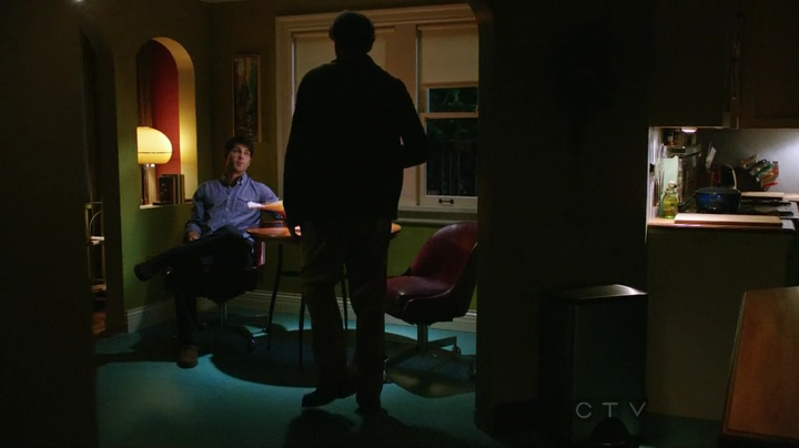 Screenshot from Grimm showing Monroe's living room