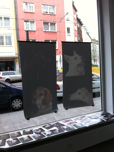 new advertising window in my gallery by Beate Knappe