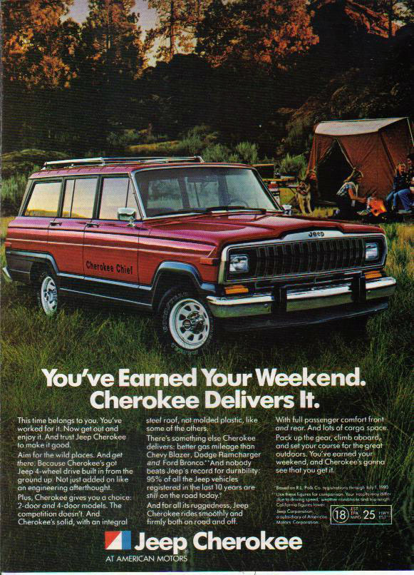 1982 AMC Jeep Cherokee Chief ad