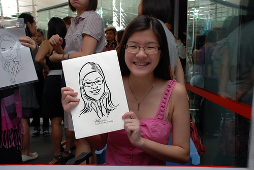 Caricature live sketching for Singapore Suntec City Annual Party - 7