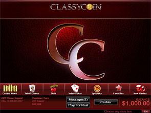 Classy Coin Casino Lobby