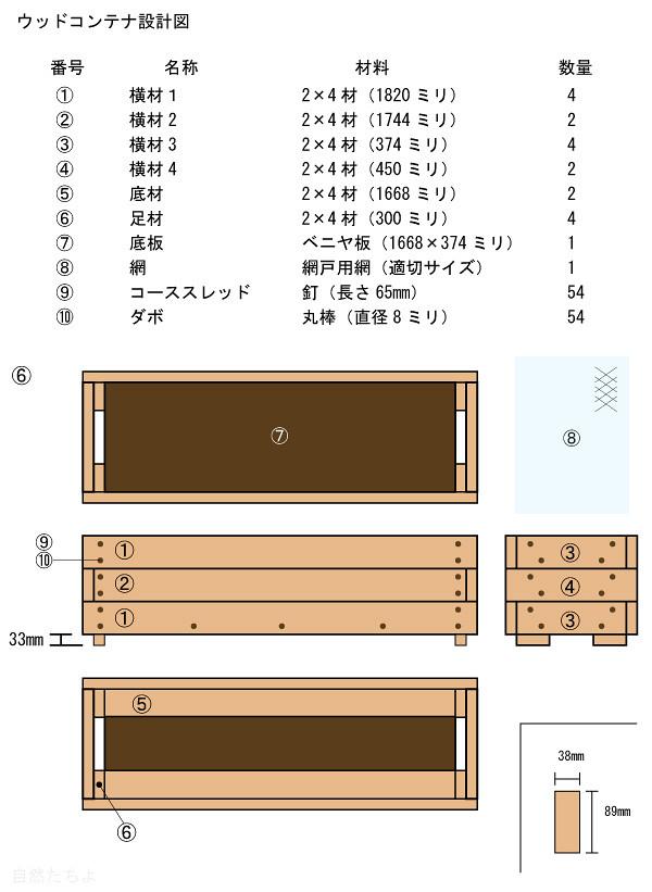 ウッドコンテナ設計図