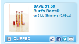$1.50 Off 2 Lip Shimmers Coupon