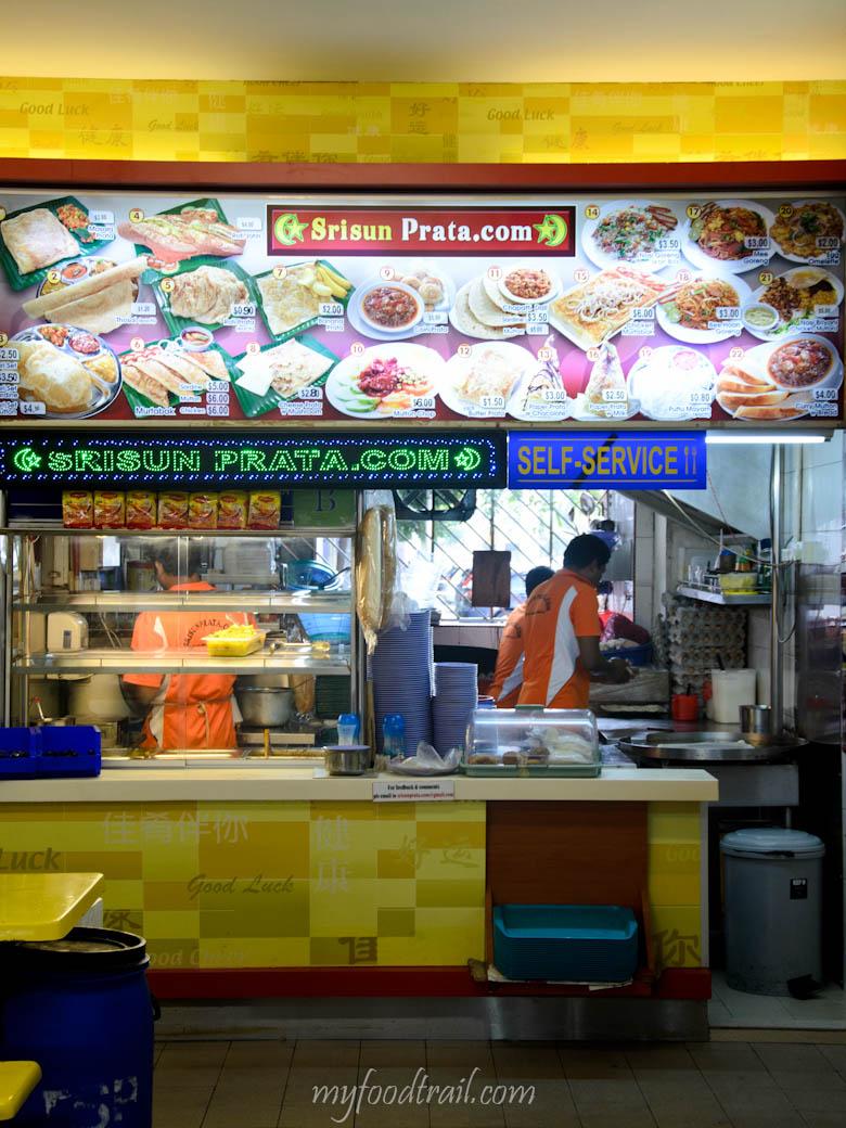 Singapore Hawker Food - Best prata shop