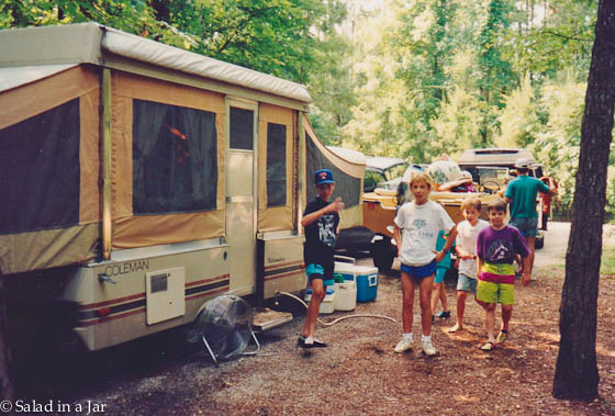 Where mint/chocolate cookies all started--camping trips with friends
