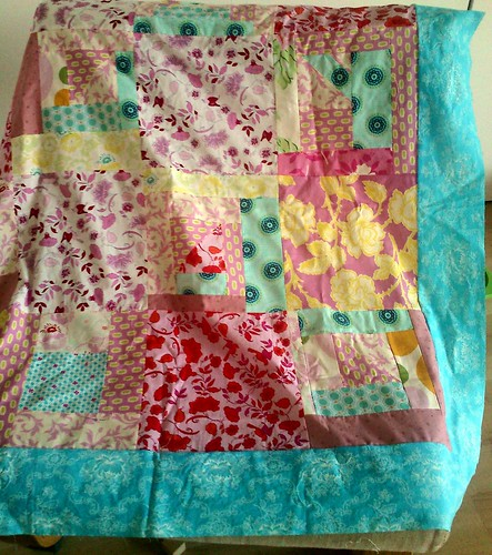 Baby quilt in making