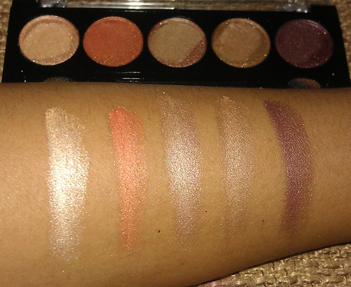 L.A. Colors 5 Metallic Eyeshadow Desert Dune swatches