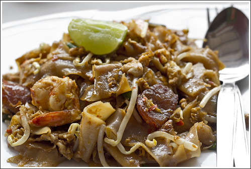 "Penang style stir fried flat noodle, ""Char Kway Teow"""