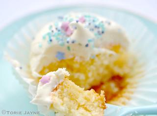 Gluten free orange cupcake