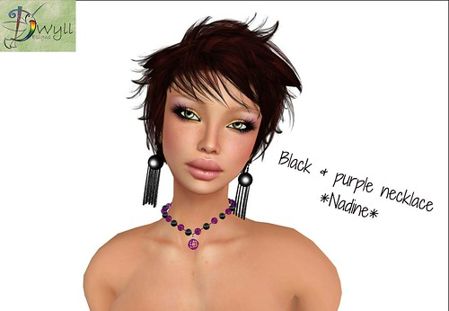 Black & purple necklace Nadine (not free) by Cherokeeh Asteria