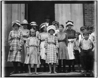 Some of the young girls working in the Pelzer Mfg. Co. Not the youngest. Some of them seem surely under 12, May 1912