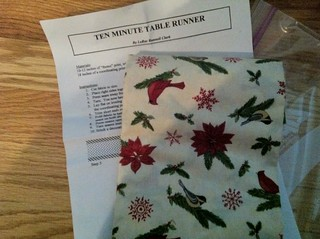 table runner for R.