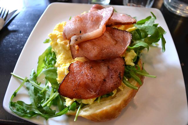 Croissant Scrambled Egg with Bacon, Antipodean Café, Bangsar