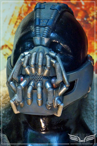 The Establishing Shot: Tom Hardy's original Bane Costumes from The Dark Knight Rises Mask Detail - London by Craig Grobler