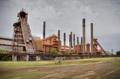 tourism foundry birmingham rust alabama stacks ironworks railroadbed slossfunaces